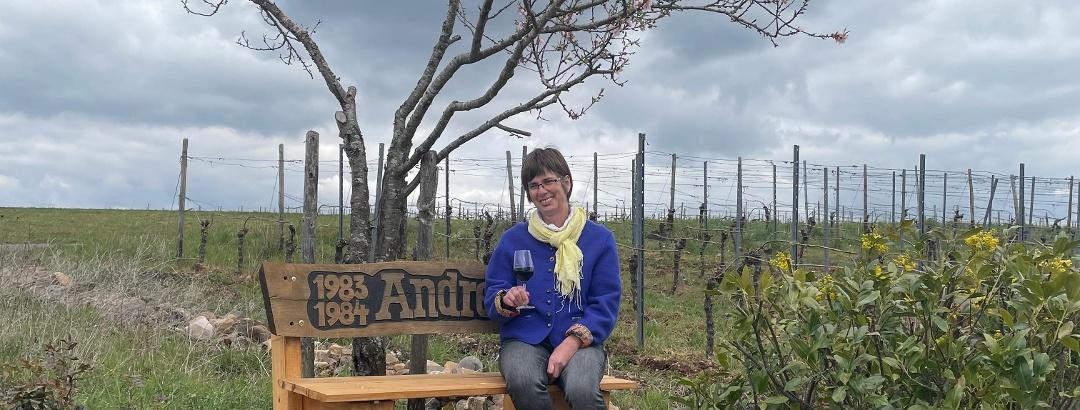 Ruhebank Weinmajestät Andrea