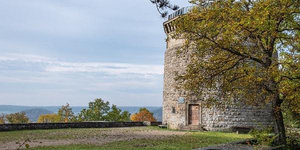 Bismarckturm mit Aussichtsplateau   Bad Kissingen