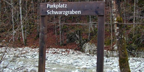 Parkplatz Schwarzgraben im Bodinggraben