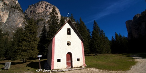 The Sylvester chapel in Vallunga valley.