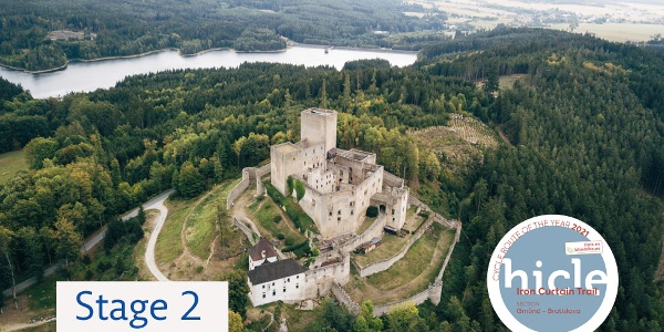 Blick auf Burg Landstejn