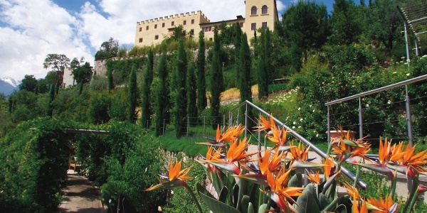 Von Schenna zum sehenswerten Schloss Trauttmansdorff mit seinen wunderbaren Gärten.