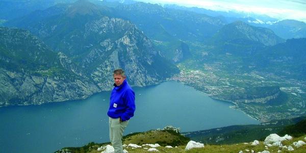 Lago di Garda dalla vetta del Monte Altissimo