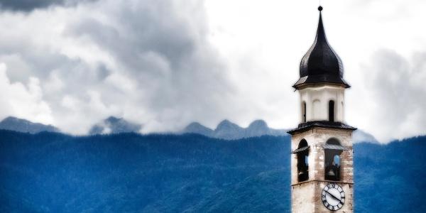 Startpunkt der 6. Etappe der Via Vigilius ist Vigo di Ton im Trentino