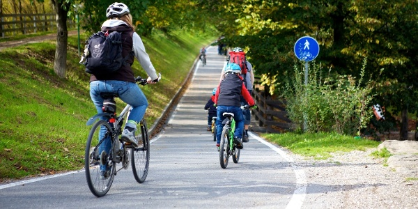 Auf dem Südtirol Radweg von West nach Nord.