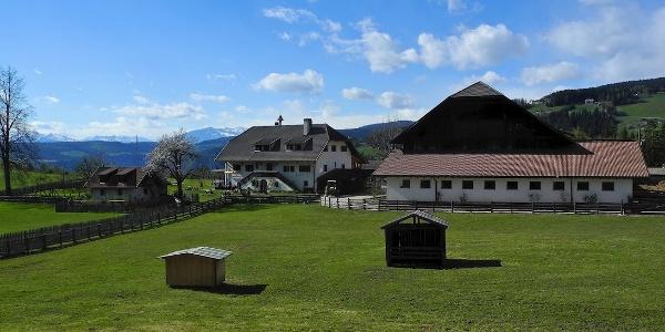 Die Wanderung führt von Oberbozen am Ritten über den Lobishof zur Freudpromenade