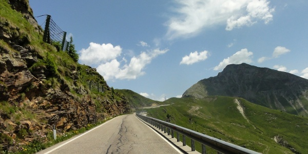 The last meters before reaching the Passo Giovo.