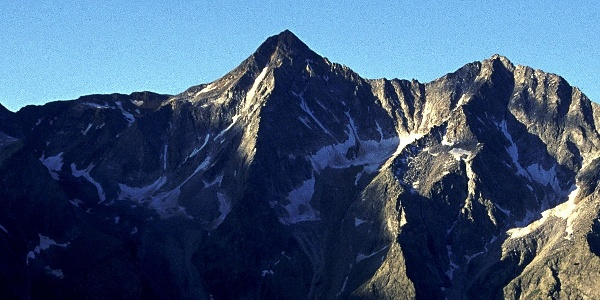 Trekking to the Montain Cima del Vento in Val Pusteria.
