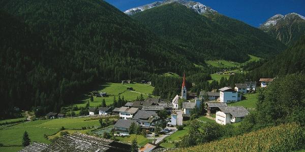St. Nikolaus in Ulten: Ausgangspunkt für die Gipfelwanderung auf die Ilmenspitze