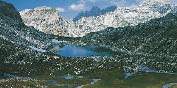 Der Crespeina-See in sagenhafter Umgebung auf 2374 m.ü.M.