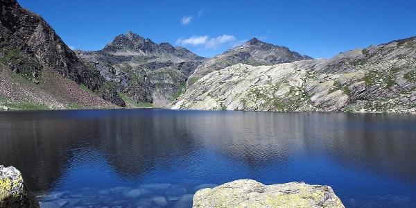 The Spronser Langsee lies at 2337 meters asl ober Merano.