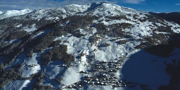 Das Sarntaler Skigebiet in seiner ganzen Pracht