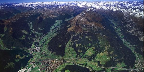 Luftaufnahme des Rosskopf über Sterzing