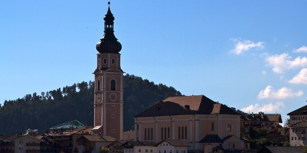 From the village Castelrotto in bike up to the Alpe di Siusi.