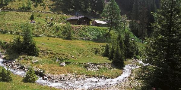 Die Silvesteralm im gleichnamigen Tal nordöstlich von Toblach.