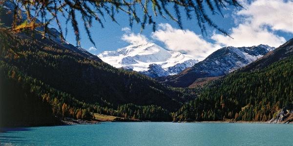 The Lago Gioveretto lake in Val Martello valley.