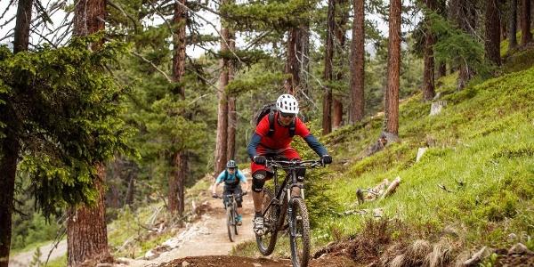 Das Terrain rund um Nauders ist ideal für fantastische Mountainbike-Trails.