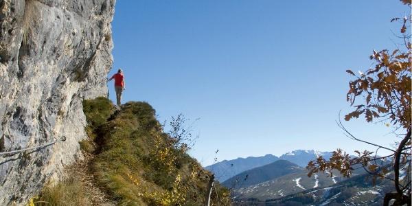 Der »Sentiero delle Vipere« vermittelt den schönsten Zugang zum Corna Piana