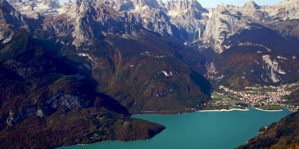 The Brenta group above the Lago di Molveno