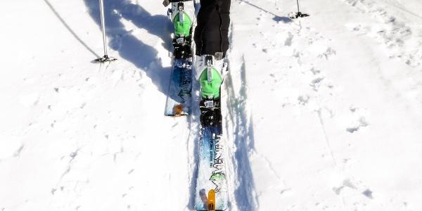 Skitour im Martelltal - auf die Äußere Pederspitze im Winter.