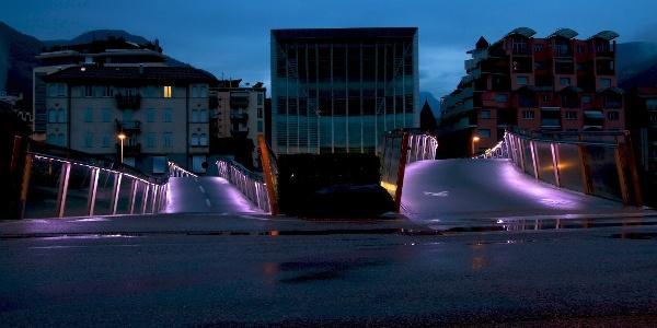Laufrunde über viele Brücken im Herzen der Landeshauptstadt Bozen.
