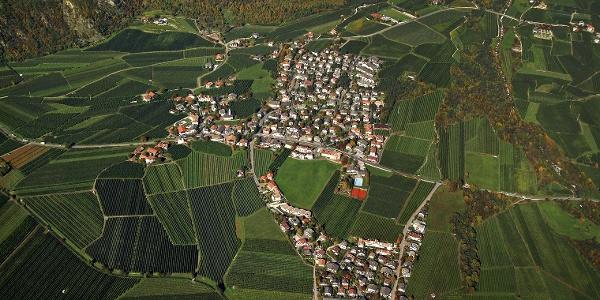 Rabland im unteren Vinschgau, der Ausgangspunkt der 7. Etappe der Meraner Waalrunde.