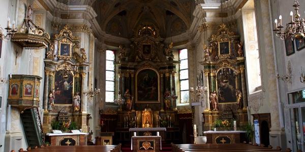 Die Pfarrkirche zur Hl. Margharet in Welsberg, ursprünglich zurückgehend auf das Jahr 1342.