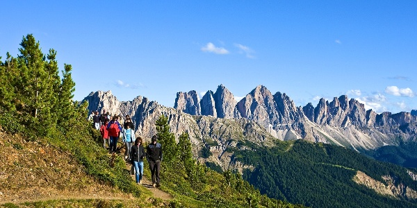 The three summits tour on the Plose have a great panorama.