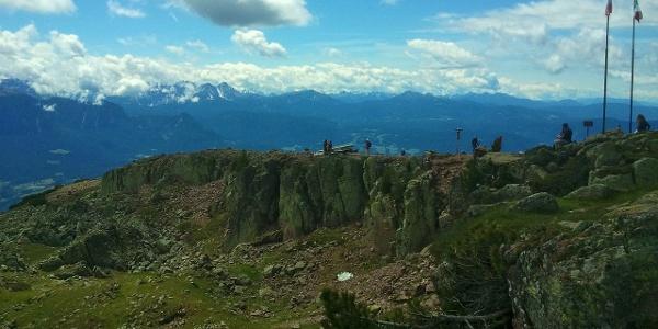 Am Rittner Horn mit Traumsicht auf die Dolomiten.