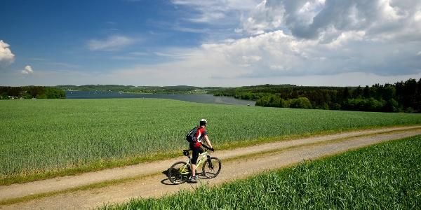 Radtour rund um die Talsperre Pöhl