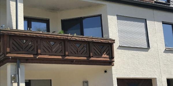 Blick auf die Ferien Wohnung  im Dachgeschoss