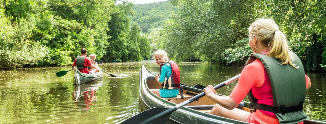 Kanu fahren mit der Familie in Meisenheim