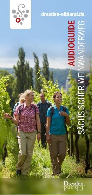 Titelbild Faltblatt AudioGuide Sächsischer Weinwanderweg