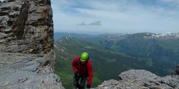 Am Rotstock-Klettersteig.