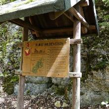 Infotafel Ruine Wildenstein