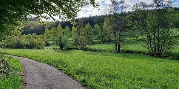 Im Breitenbachtal aufwärts - vom Pfad bis Aspalt alles vorhanden