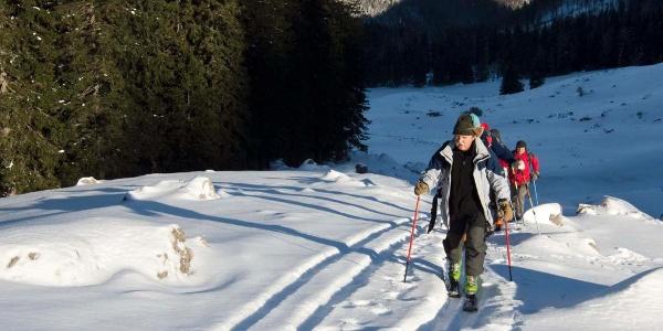 Aufstieg durch das Dürnbachtal zum Brecherspitz