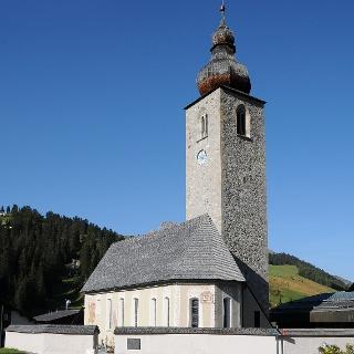 Lech, Katholische Pfarrkriche und alte Pfarrkirche Heiliger Nikolaus