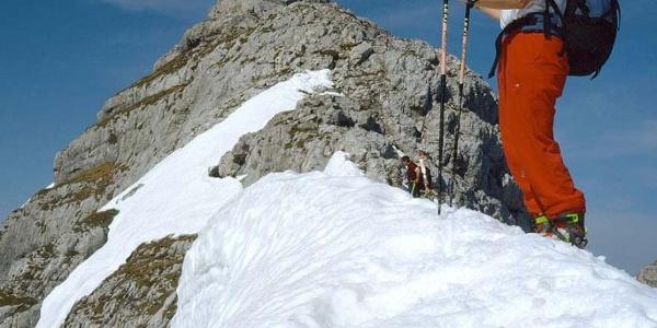 Das Gipfelkreuz ist in Sicht.