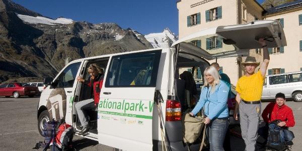 Nationalpark Wanderbus Haltestelle Glocknerhaus