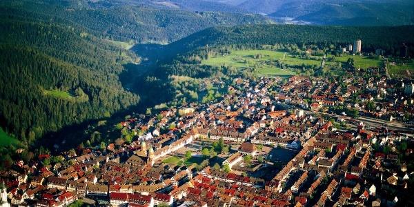 Blick auf Freudenstadt