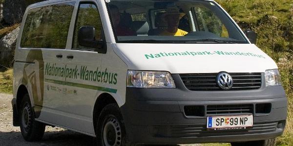 Nationalpark Wanderbus Haltestelle Kräuterwand