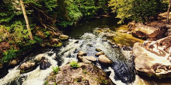 Die Irreler Wasserfälle - Stromschnellen der Prüm.