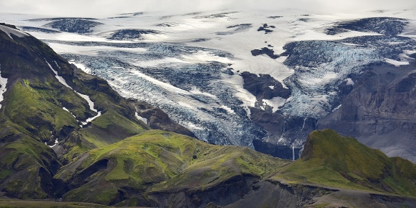 Views of Eyjafjallajokull Glacier