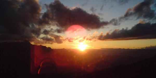 Sonnenuntergang auf der Sillianerhütte