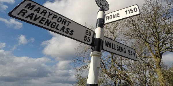 Bowness on Solway signpost