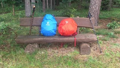 Gemütlicher Picknickplatz kurz vor Hinterbreitenthann (2/3 der Etappe)