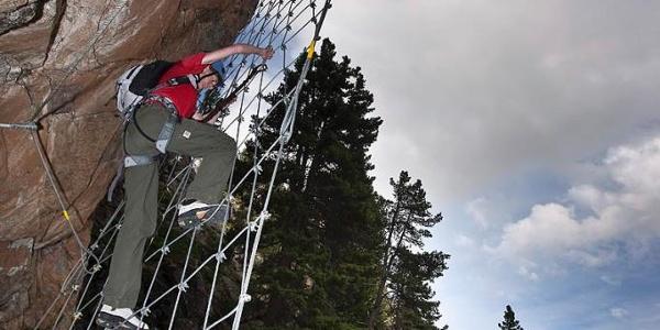 Am La Resgia Klettersteig.