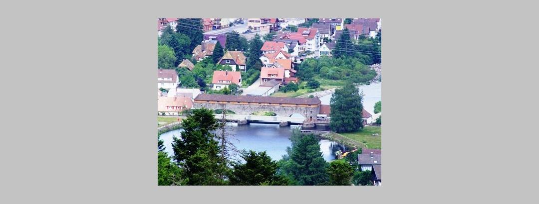 Forbach Blick auf Wasserkraftwerk