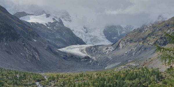 View of the Morteratsch Glacier